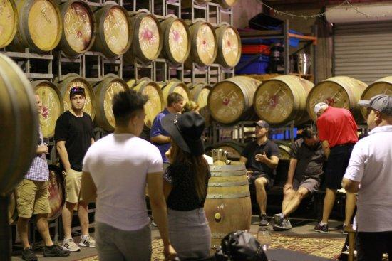 Hunter Valley Wine Tasting Tours: Tasting in the Barrel room , Hunter Valley!
