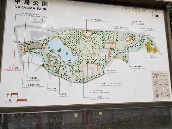 Map of the park Picture of Nakajima Park Sapporo TripAdvisor