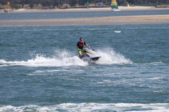 Main Beach, Australia: Experienced or beginners riders all find our jetski circuit awesome at Extreme Jet Ski