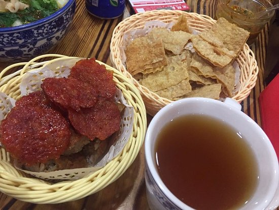 GO Noodle House: Trio Platter and Herbal Tea