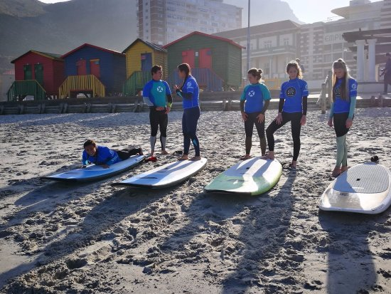 Learn to surf at world renowned Surfer's Corner, Muizenberg – the ultimate family beach.