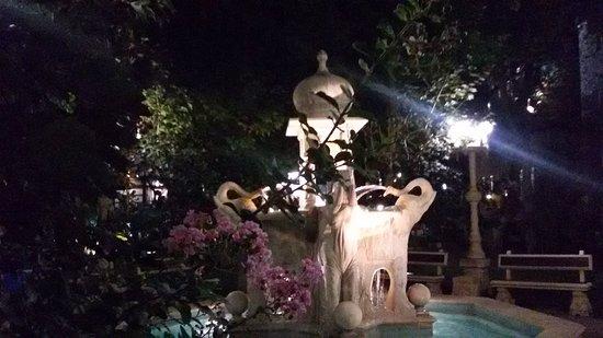 Кабардинка, Россия: Фонтан со слонами ночью особенно красив.