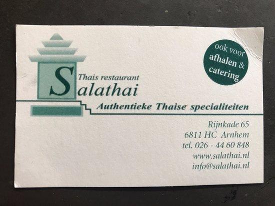 Thais Restaurant Salathai: Restaurant details