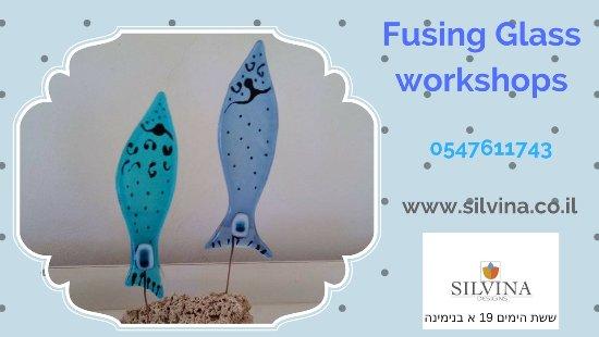 Binyamina, Israel: Welcome to the Glass studio! Phone Silvina and book your next workshop