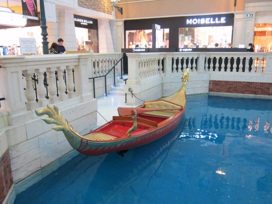 The Venetian Macao Resort Hotel: If you are tired from all the walking, take a ride. You get an Italian song thrown in.