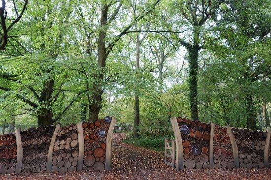 Haywards Heath, UK: Woodlands walk entrance