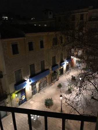 View of the courtyard from my room at El Jardi.