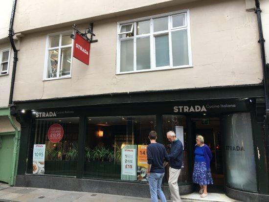 Strada - York: front area of the restaurant