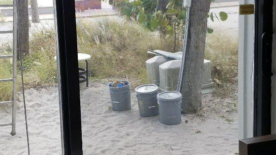Bilmar Beach Resort: Paint Buckets in our View