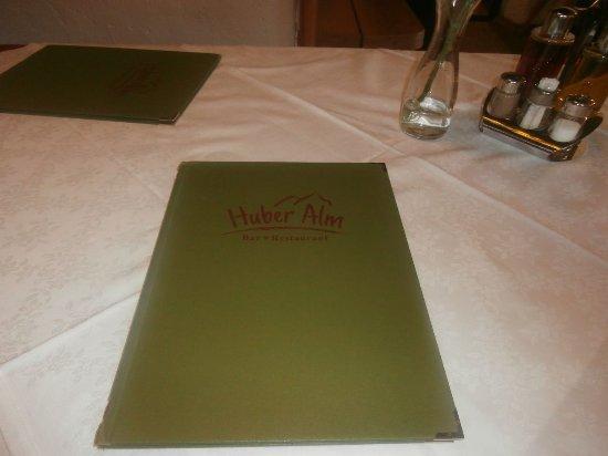 Malga Huber: Il menu
