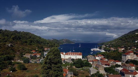 Sipanska Luka, Kroasia: View of harbour from the tower