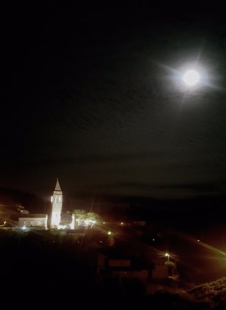 Sipanska Luka, Kroasia: Church at Night
