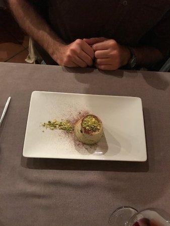 Custoza, Italien: Semifreddo all'amaretto con pistacchi di Bronte
