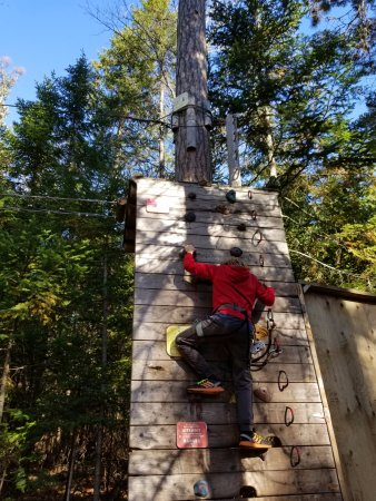 TreeGO - Moncton: Climbing Wall at Start of Kids Course