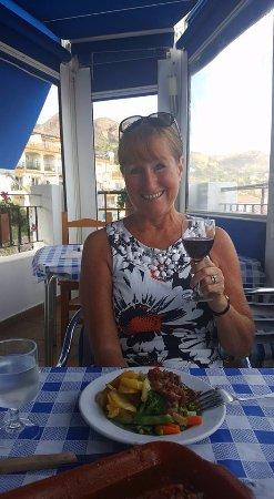 Miramar: Sunday lunch (leg of lamb) - my wife, Eve