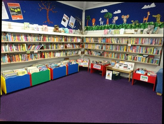 King's Lynn, UK: Children's section at Gaywood library.