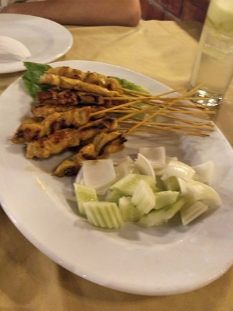 Orkid Ria Seafood Restaurant: Low-flavour Satay Chicken