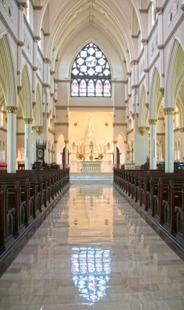 Cathedral of Saint John the Baptist: Front of Cathedral Toward Altar