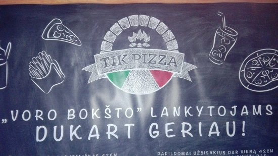 Panevezys, Litwa: Tik Pizza