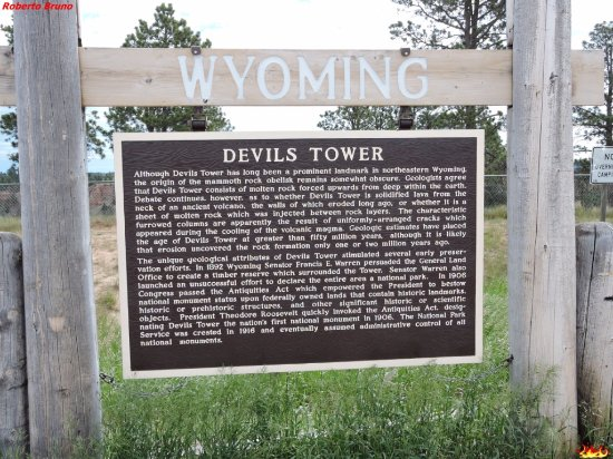 Devils Tower, WY: Cartello indicatore