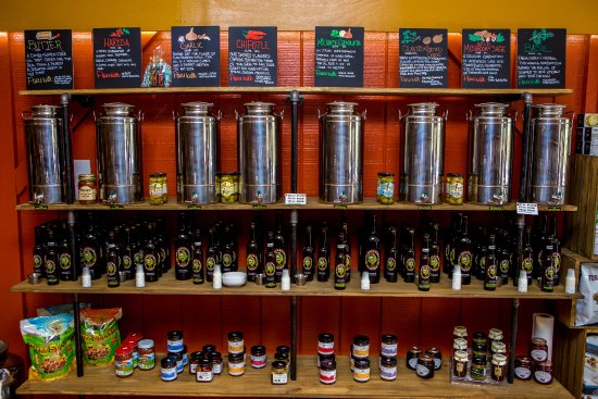 The Naked Olive: Flavored oil section