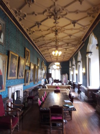The Bishop's Palace and Gardens: Hall with portraits