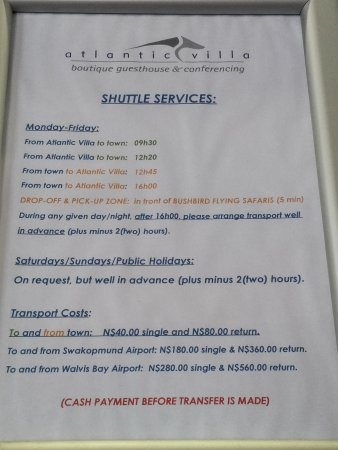 aha Atlantic Villa Boutique Guesthouse: servizio di navetta offerto