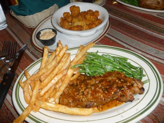 Hydra Steakhouse & Lounge: New York Strip w/Side Fried Cheese Curds...