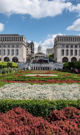 The Gardens in front of the Royal palace in Brussels