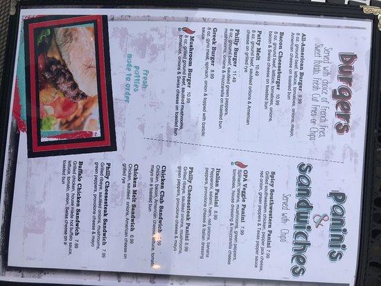 Delaware, OH: menu