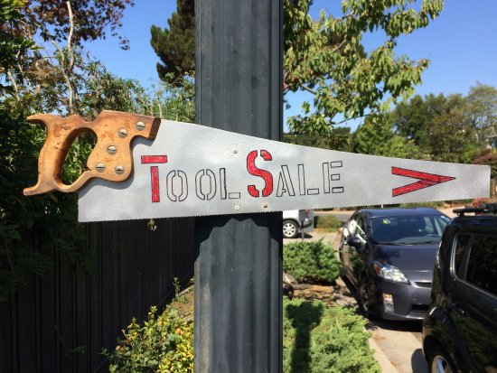 Every second Saturday the Friends of the Oakland Tool Lending Library sell donated tools. Bargai