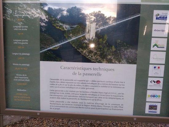 Rochemaure, Frankrijk: panneau technique de la passerelle