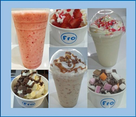 Fro : A selection of yogs and shakes