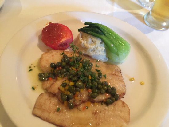 Morganton, North Carolina: Pan Seared Flounder Filets with Capers, and Lemon/Butter Sauce.