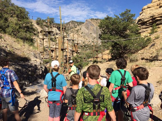 Salida, CO: View of the Lost Canyon Aerial Course