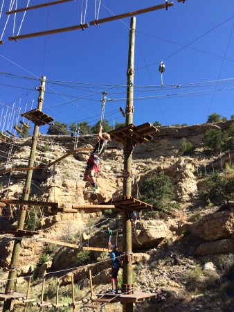 Salida, CO: The zipline element on the Lost Canyon Aerial Course.