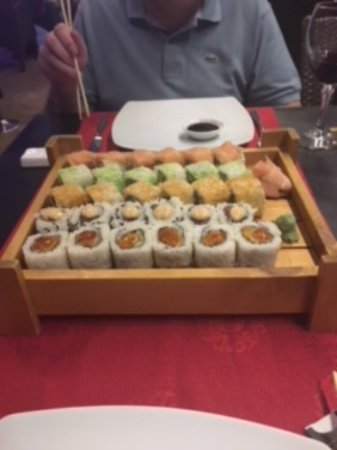 Gold Sakura: Order sushi 30 pieces to share,and there was enough variety.