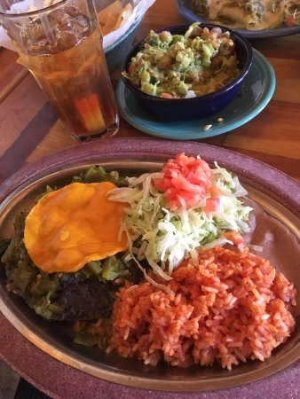 Gazpacho New Mexican Cooking Y Cantina: Vegan Enchilada with spanish rice