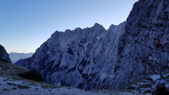 The North face of Triglav: North face walls