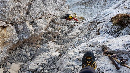 The North face of Triglav: Climbing Via ferrata route