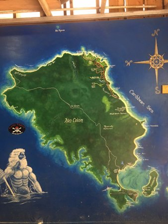 Map of Isla Colon at Flying Pirates
