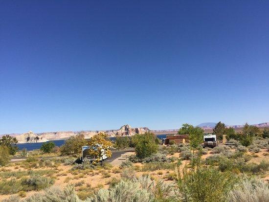 Wahweap Campground: ruime plekken met uitzicht op Lake Powell