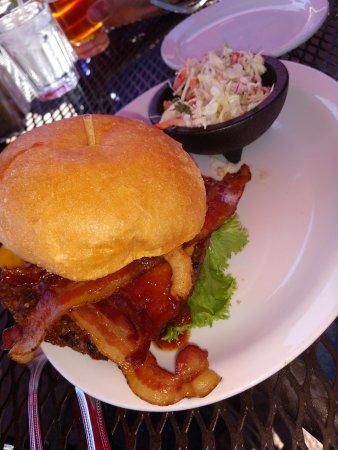 Cowboy Club Grille & Spirits : veggie burger with slaw