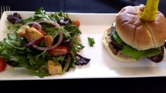 Stanardsville, VA: Stroganoff Burger with Salad