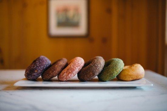 Yardley, PA: Hot sugar donuts - always fresh.