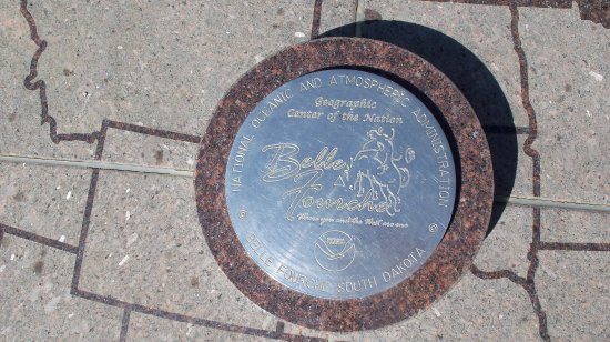 Belle Fourche, SD: The Spot commemorating the Center of the Nation
