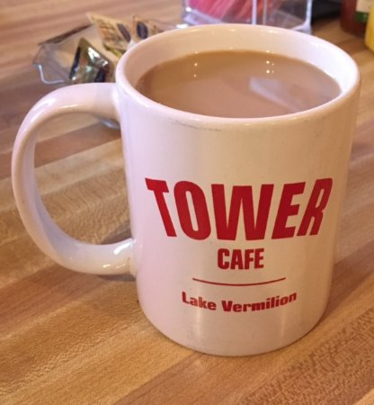 Tower cafe coffee cup