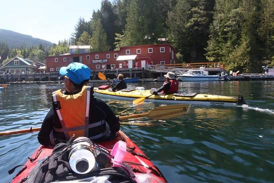 Paddling into Telegraph Cove, BC