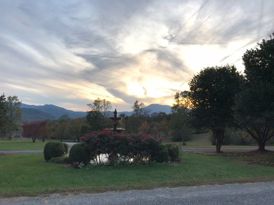 Nellysford, VA: View from the front porch of the Mark Addy at sunset