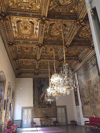 Palazzo Medici Riccardi: Otra habitación con su techo labrado